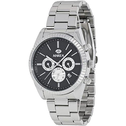 Reloj Marea Hombre B41156/1 Plateado Multifunción Negro