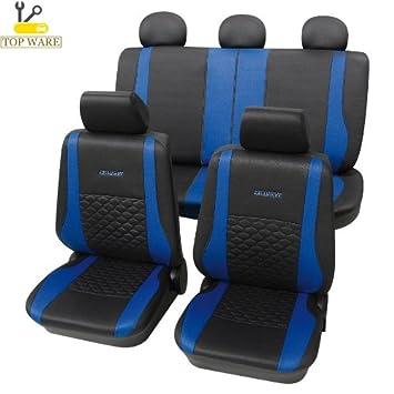 Amazon.es: Cars de diseño 22874818 Fundas para asientos de coche azul/negro
