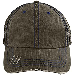 I Rescue Fish From Water Cap, I Rescue Beer From Bottles Hat (Trucker Cap - Brown/Navy)