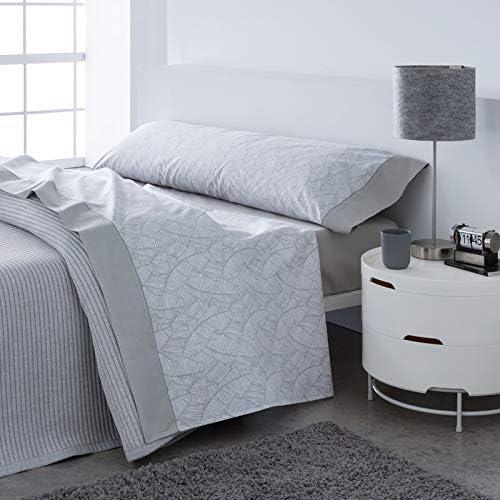 Barceló Hogar 03050620526 Juego sábanas, poliéster/algodón, modelo Eli, gris, 135 cm: Amazon.es: Hogar