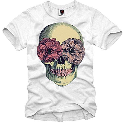 E1SYNDICATE T-Shirt Hipster Skull Dope Blogger London Boy Bones V12 DC HBA ()