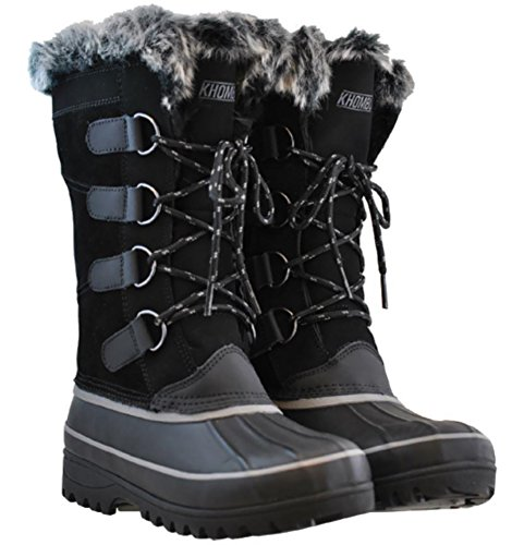 - Khombu Womens North Star Thermolite Weather Rated Winter Snow Boots (9, Black)