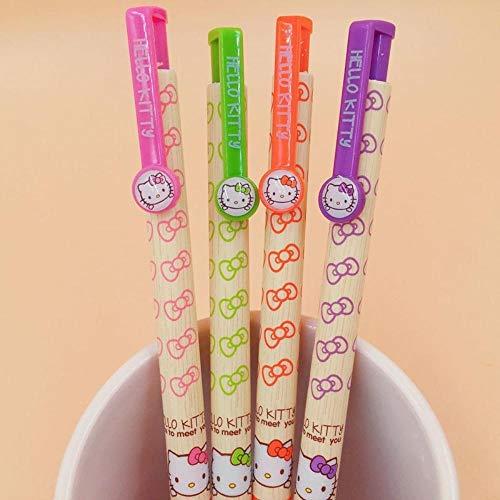 3 Pcs Kawaii Hello Kitty Bowknot Ball Ballpoint Pen Office Supply Student Stationery 0.5mm Blue