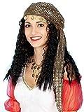 Gypsy Wig with Scarf Black/Tan