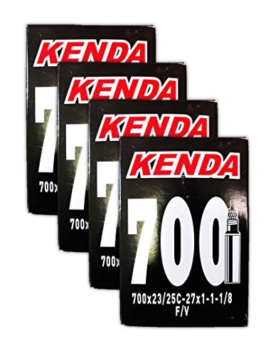 Kenda 700 x 18/23c Bicycle Inner Tubes - 48mm Threaded Presta Valve, Removable Core - FOUR (4) PACK