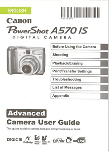canon powershot a570 is advanced user guide manual canon amazon rh amazon com canon a530 manual canon powershot a570is manual