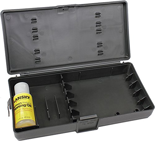 Natural Honing Oil (Lansky LS06300-BRK Custom Carrying Case with Oil)
