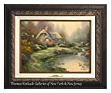 Thomas Kinkade Everett's Cottage 9'' X 12'' Canvas Classic (Aged Bronze)