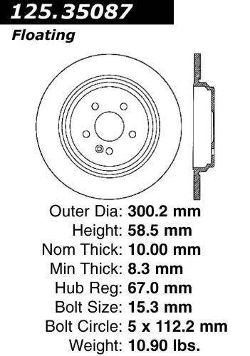 StopTech 125.35087 Premium Brake Rotor Power Slot