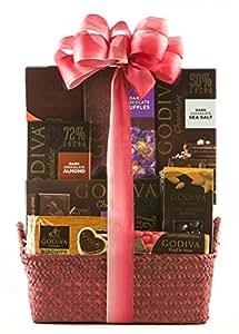 Wine.com Godiva Dark Chocolate Gift Basket