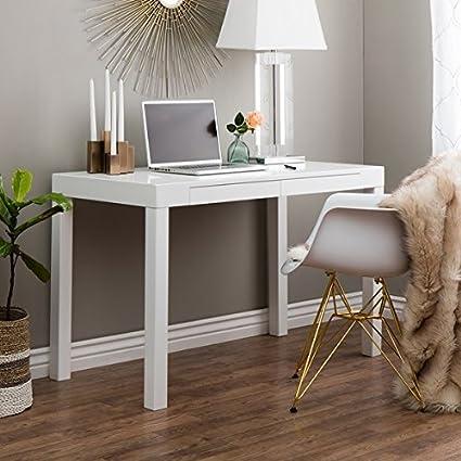 Amazon.com : Stylish Small Corner Computer Desk Is a Perfect ...