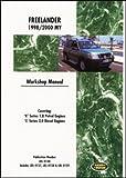 YRX6 Land Rover Freelander (LR2) 1998 – 2000 Workshop Manual