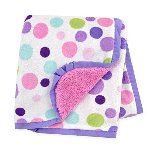 Carter's Plush Valboa with Microplush Blanket, (Dot Receiving Blanket)