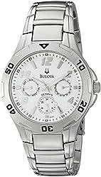 Bulova Men's 96C32 Analog Display Japanese Quartz Silver Watch