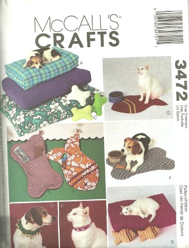 McCalls 3472 - Pet Accessories - Patterns for Cats and Dogs ()