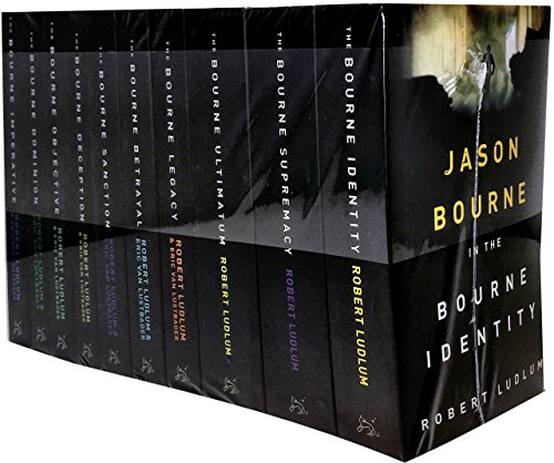 The Bourne Trilogy Series Collection Robert Ludlum 10 Books Set (The Bourne Imperative, The Bourne Legacy, The Bourne Supremacy, The Bourne Ultimatum, The Bourne Identity, The Bourne Objective, The Bourne Sanction, Deception, Betrayal, Dominion)