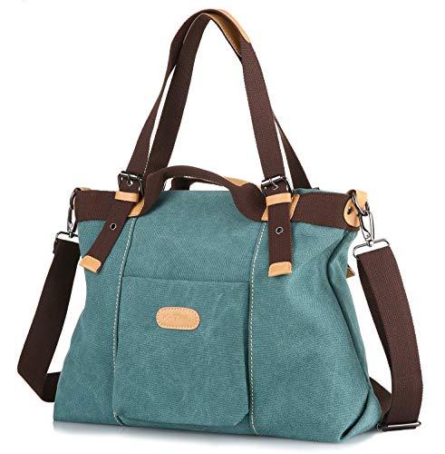 Z-joyee Women Shoulder bags Casual Vintage Hobo Canvas Handbags Top Handle Tote Crossbody Shopping Bags