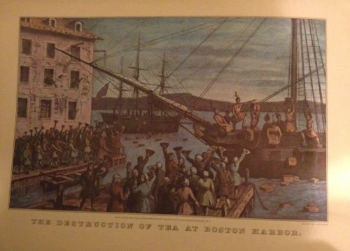Calendar Currier & Ives Prints (The Destruction of Tea At Boston Harbor, Reprinted From Lith Currier & Ives (Size:11