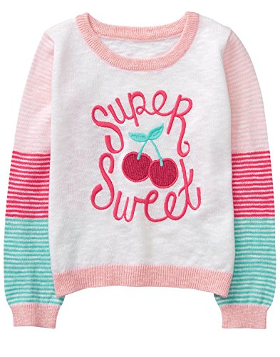 Gymboree Toddler Girls' Long Sleeve Stripe Sweater, Super Sweet Stripe, 3T