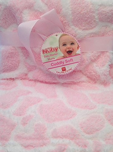 Nuby Cuddly Soft Pink Baby Blanket