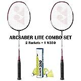 Best Yonex Badminton Rackets - Yonex Arcsaber Lite (2 Rackets) Mavis 350 Yellow Review