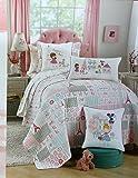 Nicole Miller Home Kids 1 Piece REVERSIBLE Twin Quilt, French Ooh La La Bonjour Paris Eiffel Tower