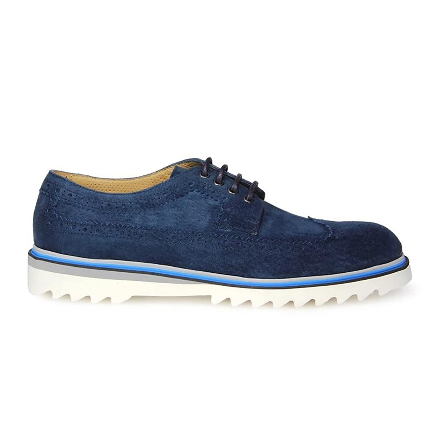 Men's 88001 Blue Suede Loafers