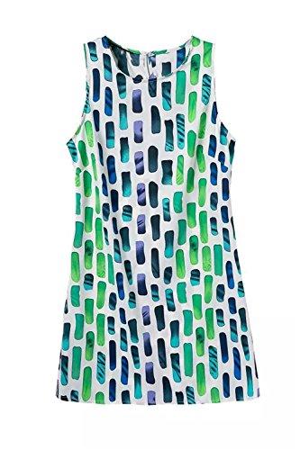 GraceMi Fashion QZ1967 Ladies' print MINI Dress vintage sleeveless brand dress plus size as pictured (Quirky Fancy Dress Ideas)