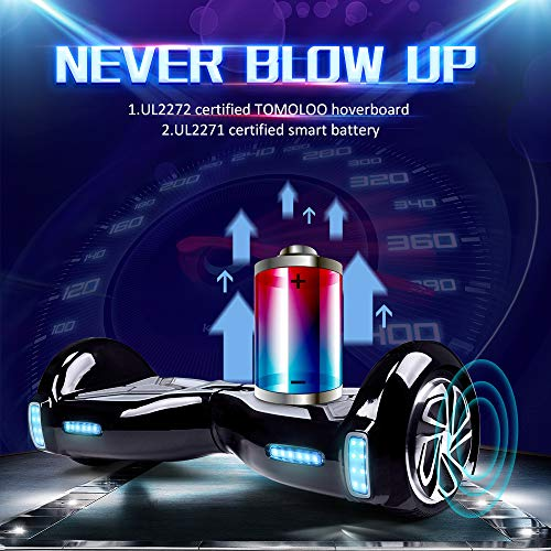 """51lCZEgRgKL - TOMOLOO Hoverboard with App and LED Lights Two-wheel Bluetooth Self Balancing Scooter with UL2272 Certified, 6.5"""" Wheel Electric Scooter for Kids and Adult"""