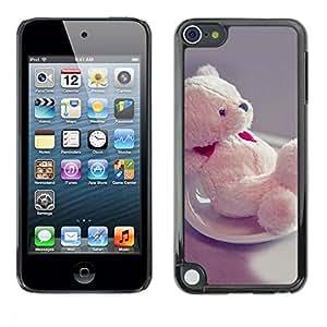 LASTONE PHONE CASE / Carcasa Funda Prima Delgada SLIM Casa Carcasa Funda Case Bandera Cover Armor Shell para Apple iPod Touch 5 / Cute Bear Heart