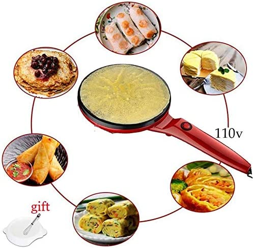 Amazon Com 2020 Portable Electric Crepe Maker 110v Electric Griddle Non Stick Easy Cleaning Crepe Pan Automatic Temperature Control For Crepes Blintzes Pancakes Bacon Tortilla Kitchen Dining