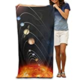 Planets Solar System 100% Polyester Shower Towel Chair (31'' X 51'') Thick Soft Quick Dry Lightweight Towels Blanket