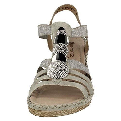 Multicoloured Sandals D6753 Ladies Slingback Remonte SIwqSX7