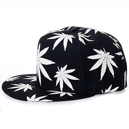 MAYBAO Weed Snapback Luminous Baseball Cap Night Glow Cap Blacklight Baseball Cap Hat from MAYBAO