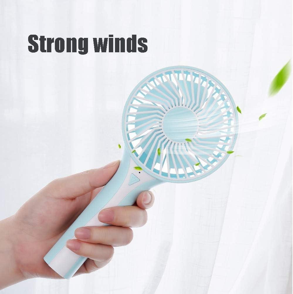 ZCP Mini Handheld Fan USB,Desk Fan,Outdoor Fan,1200 MAh Rechargeable Battery Color : Lightblue 3 Speeds Operation,for Home Travel