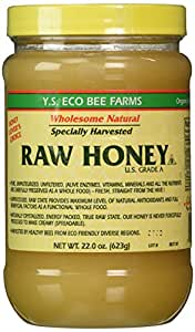 Y.S. Eco Bee Farms Raw Honey - 22 oz Pack of 3