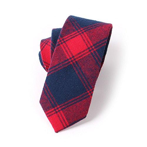 N.R.S Necktie for men Checkered/Buffalo Plaid Men's Skinny Tie (Red (Buffalo Plaid Tie)