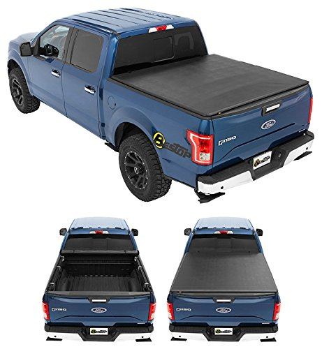 Bestop 19113-01 EZ-Roll Tonneau Cover for 2004-2008 Ford F-150 Crew Cab/Super Cab Styleside (except Heritage model), 5.5' bed ()