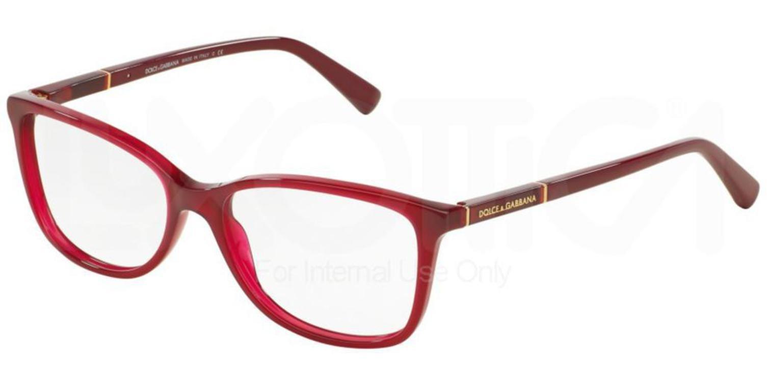 Dolce & Gabbana Women's DG3219 Eyeglasses Opal Red 53mm