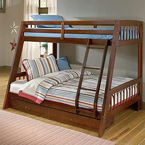 Hillsdale 1608BB Rockdale Bunk Bed, Twin over Full, Cherry - Footboard Hillsdale House