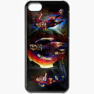 Personalized iPhone 5C Cell phone Case/Cover Skin Lionel messi barca Black