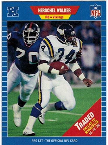 1989 Pro Set Series 1-2 & Update Minnesota Vikings Team Set with Herschel Walker & Randall McDaniel RC - 22 Cards