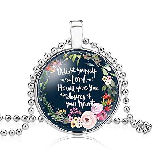 LEODI Christian Necklace Religious Bible Verse Gift Jewelry for Women Girls