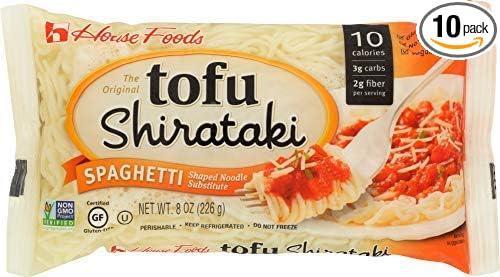 Tofu Shirataki Noodles Spaghetti Shape 10 8oz Bags
