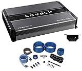 Crunch PD3000.1D 3000 Watt Mono Car Stereo Amplifier Class D Pro Power+Amp Kit