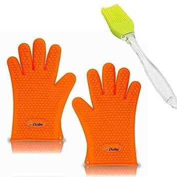 Guantes horno, guantes cocina, iNeibo, guantes silicona, manoplas ...