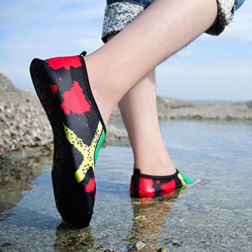 Sports Quick Green Beach Shoes Yoga Shoes Water Dry Kingwo Water Unisex Surf Shoes Socks Skin Swim Printed Swimming wnIq7AC
