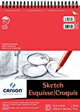 Canson Foundation Series Paper Sketch Pad for Pencil or Pen, Micro-Perforated Sheets, Top Wire Bound, 50 Pound, 11 x 14 Inch, 50 Sheets