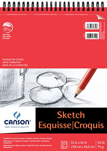 Canson Foundation Series Sketch Pad, 11