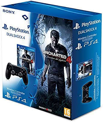 Sony - Mando DualShock 4 + Uncharted 4 (PS4): Amazon.es: Videojuegos